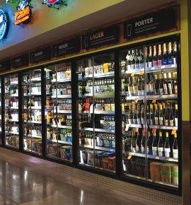 liquor store cooler systems
